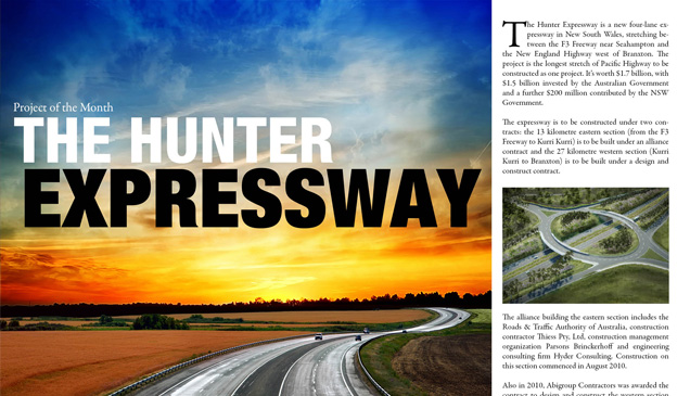 project of the month The Hunter Expressway