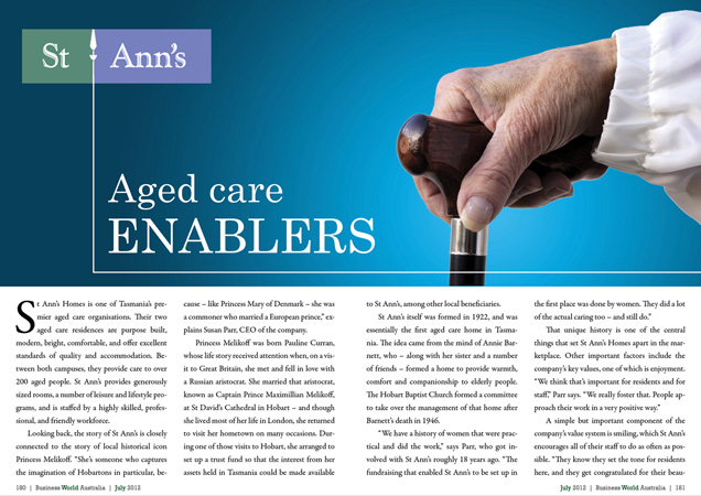 St Ann's Homes – Aged care enablers