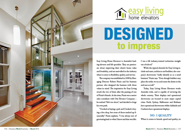 Easy living home elevators business world australia for Easy living elevators